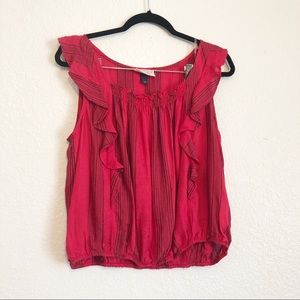 Universal Thread Blue and Red Stretchy Flowy Top L